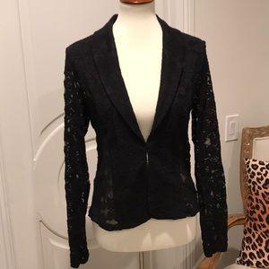 Chic Black Lace Blazer